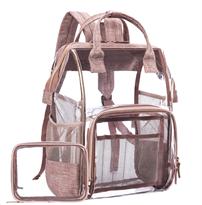 Прозрачный рюкзак лиловый купить
