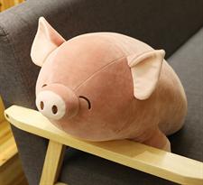 Мягкая игрушка подушка Свинка (коричневая) 60 см купить