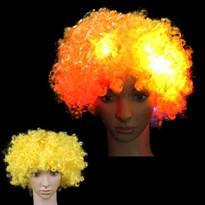 Парик в стиле Афро с Led-подсветкой (Цвет Желтый) купить Москва