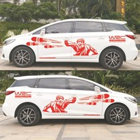 3D наклейка на машину WRC (Цвет Красный) купить Москва