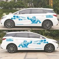 3D наклейка на машину WRC (Цвет Синий) купить Москва