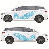 3D наклейка на машину Ангел (Цвет Синий) купить Москва