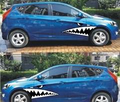 3D наклейка на машину Зубы акулы купить Москва