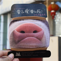 Маска на рот свиное рыло купить в Москве