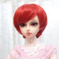 Парик для куклы BJD короткий (Цвет Красный) купить Москва