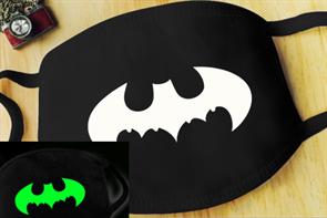 Маска на рот лого Бэтмена (Batman) светится в темноте купить в Москве