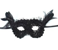 Черная карнавальная маска купить в Москве