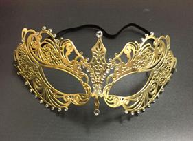Золотистая карнавальная маска купить в Москве