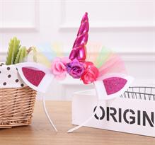 Ободок для волос розовый Единорог купить в Москве