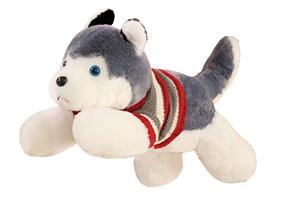 Плюшевая игрушка Хаски в свитере (40см) купить в Москве