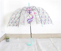 Зонт с голубой ручкой единороги Keep calm and be unicorn купить в Москве