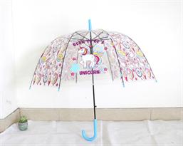 Зонт с голубой ручкой единороги Born to be a unicorn купить в Москве