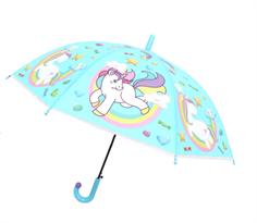 Бирюзовый зонт Единорог на радуге купить в Москве