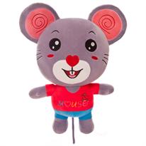 Мягкая игрушка мышь (крыса) в розовой футболке 50 см купить в Москве