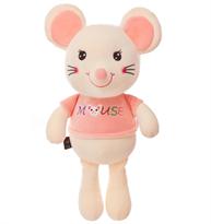 Мягкая игрушка мышь (крыса) бело-розовая 30 см купить в Москве