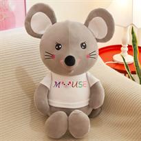 Мягкая игрушка мышь (крыса) серая 40 см купить в Москве