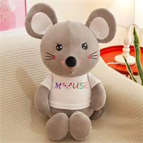 Мягкая игрушка мышь (крыса) серая купить в Москве