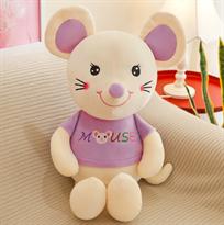 Мягкая игрушка мышь (крыса) бело-фиолетовая 80 см купить в Москве