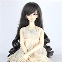 Парик для куклы BJD длинный (Цвет Серый) размер 4 купить Москва