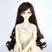 Парик для куклы BJD длинный (Цвет Темно-коричневый) размер 4 купить Москва