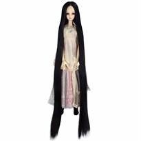 Парик для куклы BJD очень длинные волосы (Цвет Черный) размер 3 купить Москва