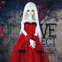 Парик для куклы BJD длинные белые волосы размер 6 купить Москва