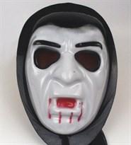 Маска Вампира в капюшоне на Хэллоуин купить Москва