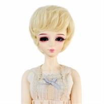 Парик для куклы BJD короткие волосы (Цвет Темное золото) размер 3 купить Москва