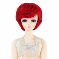 Парик для куклы BJD короткие волосы (Цвет Красный) размер 3 купить Москва