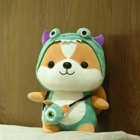 Мягкая игрушка Белка в костюме динозавра (Цвет Зеленый) 25см купить Москва
