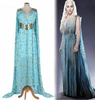 Легкое голубое платье для косплея Дайенерис Игра Престолов (Game of Thrones) купить в Москве