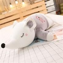 Мягкая игрушка Мышка (крыса) в серой футболке 100 см купить Москва
