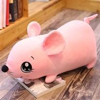 Мягкая игрушка Мышка (крыса) розового цвета 40 см купить Москва