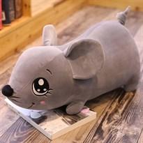 Мягкая игрушка Мышка (крыса) серого цвета 50 см купить Москва