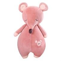 Мягкая игрушка Мышка (крыса) розового цвета 60см купить Москва