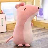 Мягкая игрушка-подушка Мышка (крыса) розового цвета 45 см купить Москва
