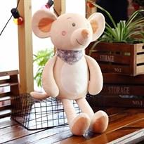 Мягкая игрушка Мышка (крыса) Цвет Светло-серый 35 см купить Москва