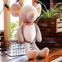 Мягкая игрушка Мышка (крыса) Цвет Темно-серый 55 см купить Москва