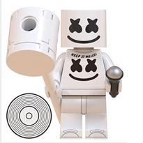 Фигурка совместима с Лего Маршмеллоу (Marshmellow) с молотком и микрофоном купить в Москве
