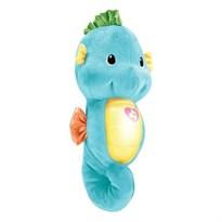 Музыкальная мягкая игрушка-ночник Морской конек (голубой)