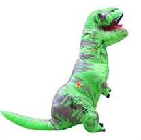 Салатовый надувной костюм динозавра Тирекса (T-Rex) купить в Москве