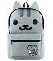 Рюкзак с ушками серый котик купить в Москве