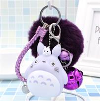 Брелок Тоторо с фиолетовым помпоном купить