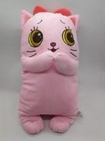 Мягкая игрушка подушка Розовый Котик