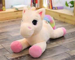 Мягкая игрушка лошадка с розовыми копытами (60 см) купить в Москве