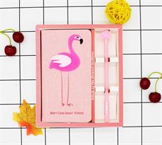 Набор блокнот и ручка с Фламинго купить недорого