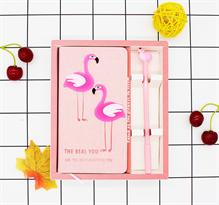 Набор блокнот и ручка с Розовыми фламинго купить в Москве