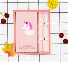 Набор блокнот и ручка с розовым Единорогом заказать с доставкой