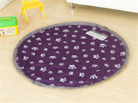 Коврик мешок для игрушек фиолетовый 80 см купить