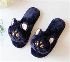 """Черные тапочки с кошкой Луной из """"Сейлор Мун"""" (Sailor Moon) заказать с доставкой"""